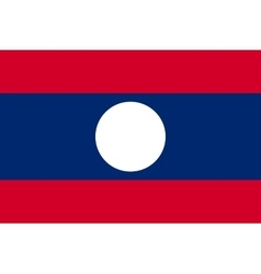 Flag of Laos in correct proportions and colors vector image