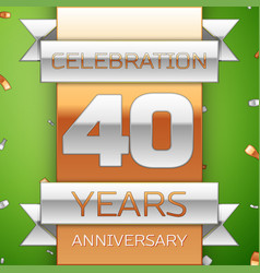 Forty years anniversary celebration design vector