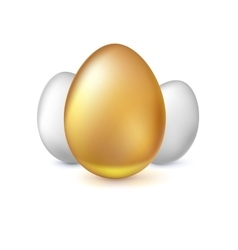 Golden and white Easter eggs vector image