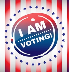 I am voting banner usa presidential elections vector
