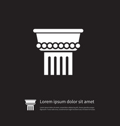 isolated marble icon column element can be vector image