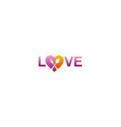 Love food text logo vector