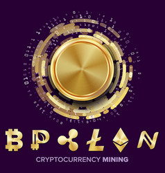 Mining cryptocurrency concept vector