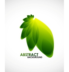 Natural business shape vector image