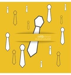 Neck tie solid color vector