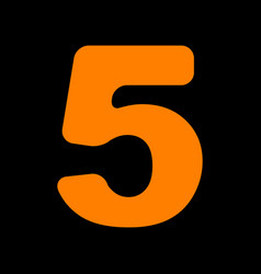 Number 5 sign design template element orange icon vector