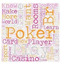 Online poker rooms3 text background wordcloud vector