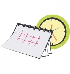 planner calendar vector image vector image