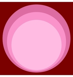 Red pink circle retro background art nouveau vector