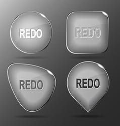 Redo glass buttons vector