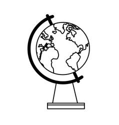 school globe map world earth vector image