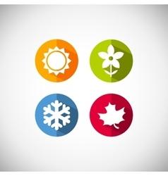 season icons vector image vector image