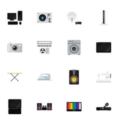 Set of 16 editable technology icons includes vector
