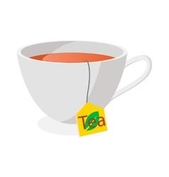 Tea cup icon cartoon style vector image