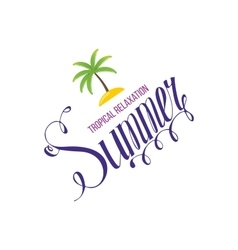 Tropical Summer holiday background vector image