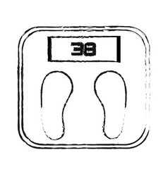 Weight scale health icon image vector