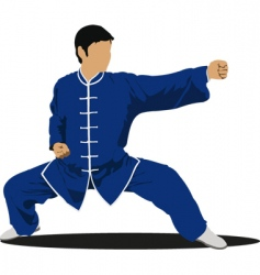 Wushu master. martial arts vector