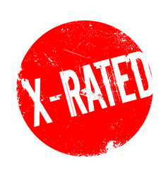 x-rated rubber stamp vector image vector image