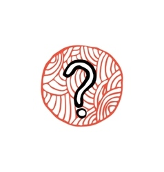 zentangle icon question vector image