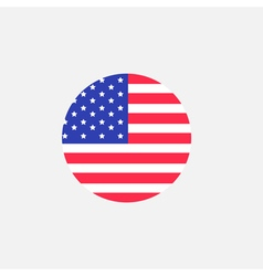Round circle shape american flag icon star and vector