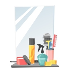 Hairdresser barber icons vector