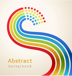 Curved colored stripes with circles vector