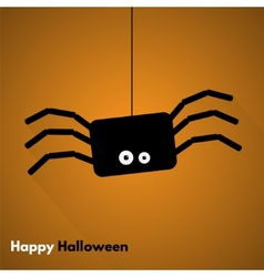 Happy Halloween Label with Spider vector image