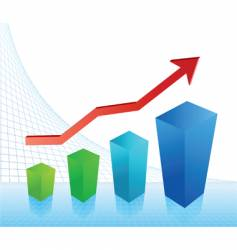 Business profit chart vector