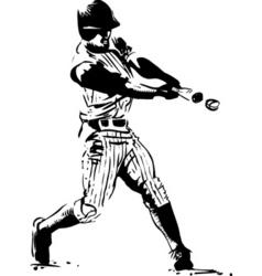 baseball hitter vector image