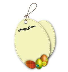 Label easter vector