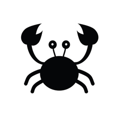 Crab cartoon black vector