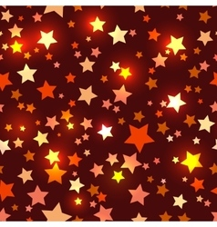 Seamless with shiny red stars vector