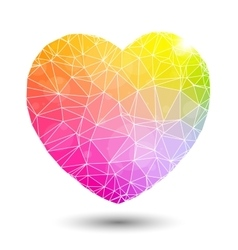 Abstract geometric colorful heart shaped valentine vector