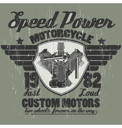 Motorcycle engine riders team emblem graphic vector