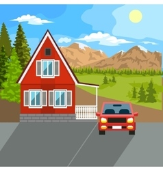 Private residential architecture vector