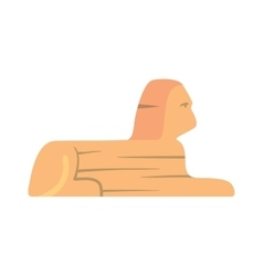 Traditional symbols of egypt sphinx monument vector