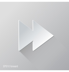 Forward flat icon design vector