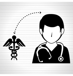 Nurse man and symbol medical isolated icon design vector
