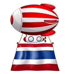 A floating balloon and the flag of thailand vector