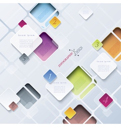 Abstract background infographics vector image