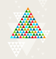 Abstract geometric Christmas tree vector image