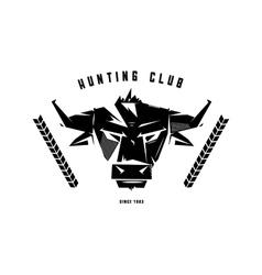 Black and white monochrome emblem symbol vector