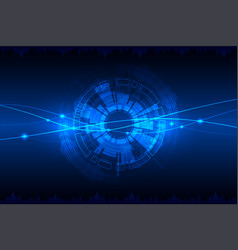 blue abstract technological background with vector image vector image