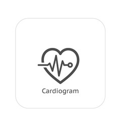 Cardiogram and medical services icon vector