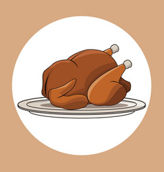 Chicken roasted food image vector