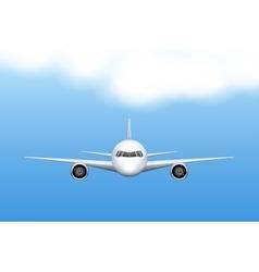Civil aircraft airplane vector