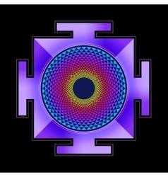Colored sahasrara yantra vector