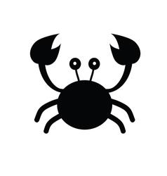 Crab cartoon black vector
