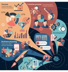 Creative infographic set vector image