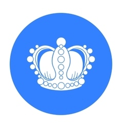 Crown icon in black style isolated on white vector image vector image